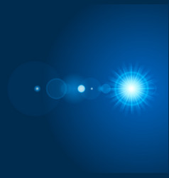 sun with lens flare lights template and vector image