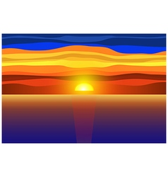 Sunset and sea vector image vector image