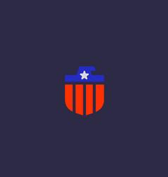 American eagle flag logo design national symbol vector