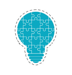 bulb puzzle solution image vector image