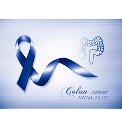 Colon cancer awareness ribbon vector image vector image