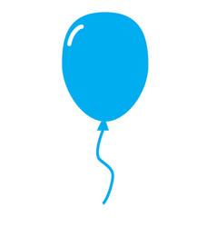 line balloon icon balloon icon picture on white vector image vector image