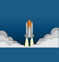space shuttle taking off on the mission spaceship vector image