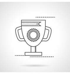 The best award cup flat line icon vector image