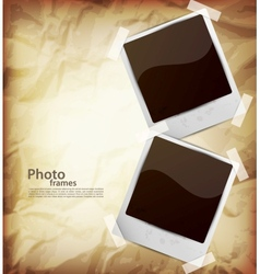 Two photo frame vector image vector image