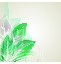 Abstract artistic Background with green floral vector image vector image
