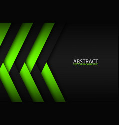 abstract background with green and black layers vector image