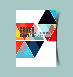 abstract report cover 10 vector image