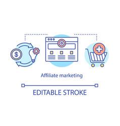 Affiliate marketing concept icon digital vector