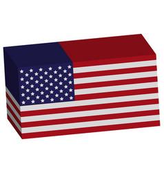 American flag 3d vector