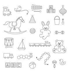 baby toys digital stamps vector image