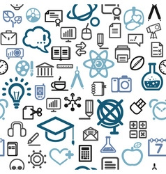 background made of education icons vector image