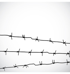 Barbed wire silhouettes vector image