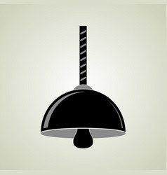 black hanging ceiling lamp vector image