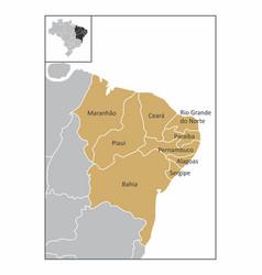 brazil northeast region vector image