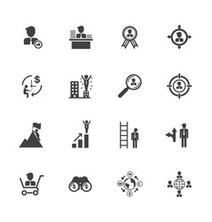 business management icons vector image