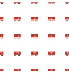 cargo wagon icon pattern seamless white background vector image