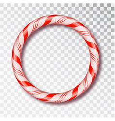 christmas candy frame round isolated blank vector image