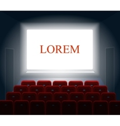 Cinema with white screen Theater and show vector