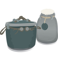 clay pots vector image