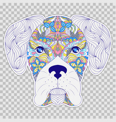 colorful head of dog vector image