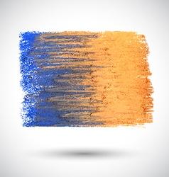 Colorful pastel brush orange blue vector