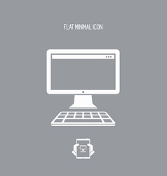 computer desktop flat icon vector image