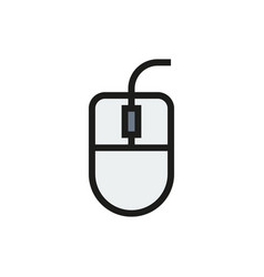 computer mouse icon on white background vector image