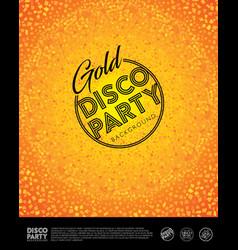 disco poster invitation card vector image