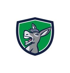 Donkey head shouting crest retro vector