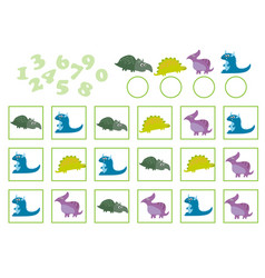education counting game vector image