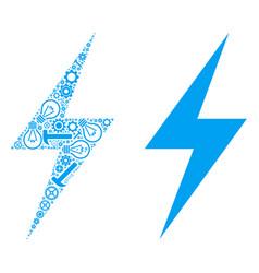 Electric bolt composition of repair tools vector
