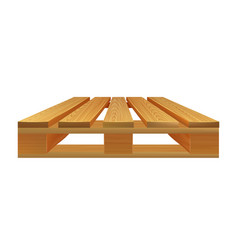 Empty wooden pallet for logistic side view vector