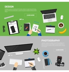 Flat design concepts for creative process vector image