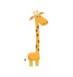 Giraffe Funny vector image