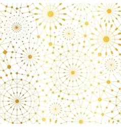 Golden White Abstract Network Metallic vector