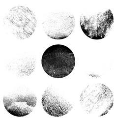 grunge cirular textures vector image