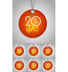 Happy Diwali label vector image