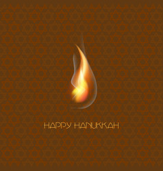happy hanukkah jewish holiday hanukkah greeting vector image