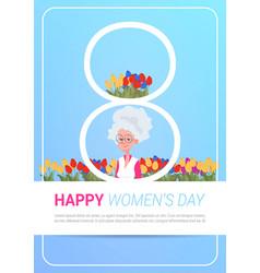Happy international women day greeting card vector