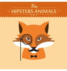 Hipster fashion animal with classic hipster vector