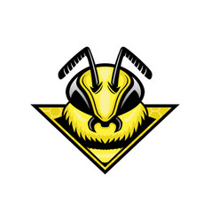 honey bee sign vector image
