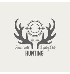 Hunting Vintage Emblem vector image