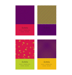 Invitation colorful cards or tickets set vector