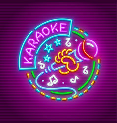Karaoke club for singing vector