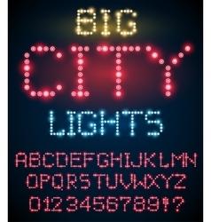 Light font set vector