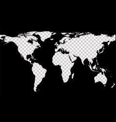 map with imitation of transparent continents vector image vector image