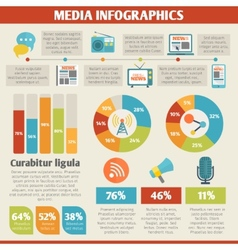 Media infographics vector image
