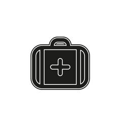 medical case sign - insurance symbol - first aid vector image