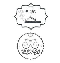 mexico cuba vector image